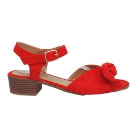 Sandalias de tacón rojo Noemia
