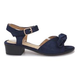 Marina Sandalias de tacón azul oscuro Noemia