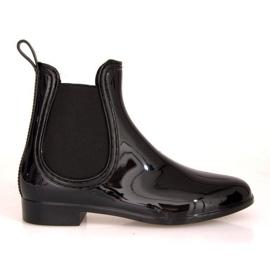 Wellingtons cortos con banda elástica SD98 Negro