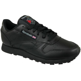 Negro Zapatillas Reebok Classic Leather W 3912