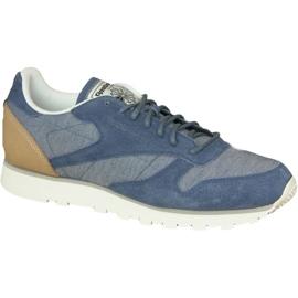 Azul Zapatillas Reebok Cl Leather Fleck M AQ9722