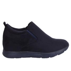 Marina Zapatos en una cuña azul marino oculta ZY-7K67 Azul