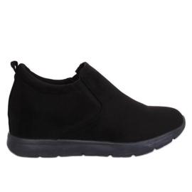 Zapatos en una cuña oculta negro ZY-7K67 Negro