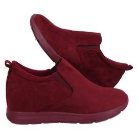 Zapatos con tacón de cuña oculto ZY-7K67 Rojo