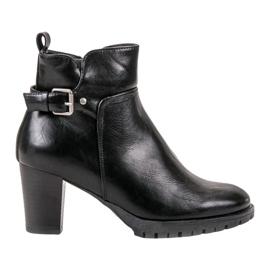 Vinceza negro Elegantes botas de otoño