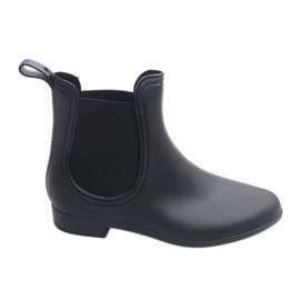 Wellingtons cortos con elástico 608 negro