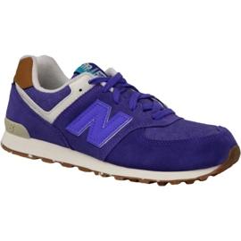 Zapatillas New Balance en KL574EUG púrpura