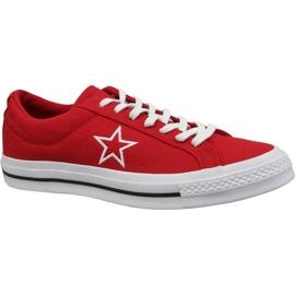 Converse One Star Ox Calzado M 163378C rojo