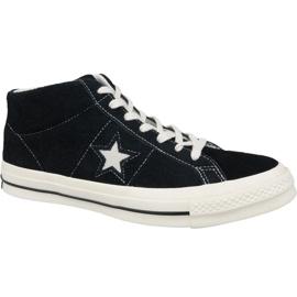 Zapatillas Converse One Star Ox Mid Vintage Suede M 157701C negro
