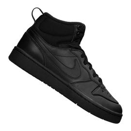 Bota Nike Court Borough Mid 2 (GS) Jr BQ5440-001 negro