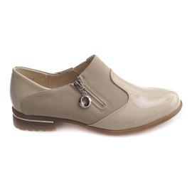 Marrón Zapatos sin cordones clásicos 15312 Beige