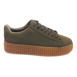 Botas Creepers On Platform AM-1101 Verde