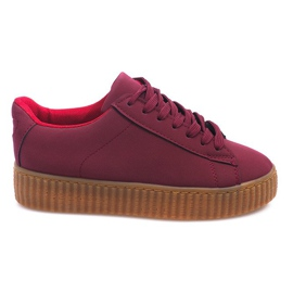 Botas Creepers On Platform AM-1101 Rojo