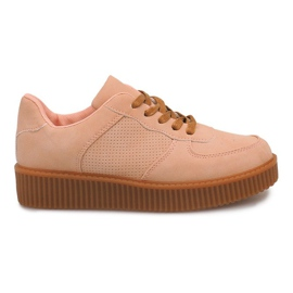 Marrón Botas Creepers On Platform HBK1015 Nude