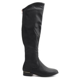 Botas altas y esbeltas A7898-38 Negro