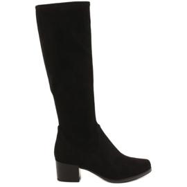 Negro Caprice 25506 botas negras elásticas de mujer