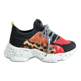 SHELOVET Zapatillas deportivas con estampado de leopardo