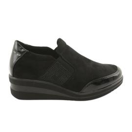 Zapatos negros en la cuña Sergio Leone 225