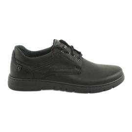 Negro Zapatos atados para hombre Riko 902