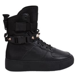 Negro Y-025 Calzado deportivo negro