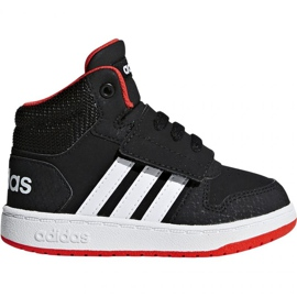 Negro Zapatillas Adidas Hoops Mid 2.0 I Jr B75945