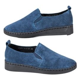 Filippo azul Zapatillas De Cuero Slip On