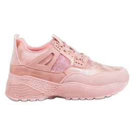 SHELOVET Zapatillas camuflaje rosa