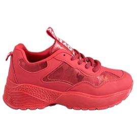 SHELOVET rojo Zapatillas de camuflaje rojas