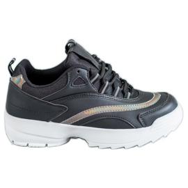 SHELOVET negro Zapatillas de deporte negras de moda