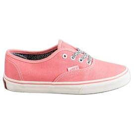 SHELOVET rosa Zapatillas cómodas