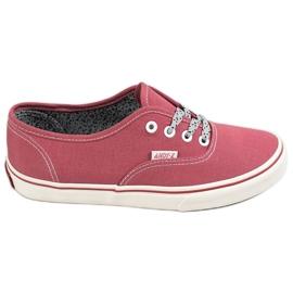 SHELOVET Zapatillas cómodas rojo