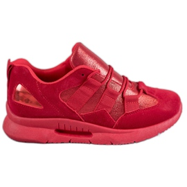 SHELOVET rojo Calzado deportivo de gamuza