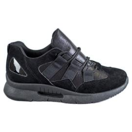 SHELOVET negro Calzado deportivo de gamuza
