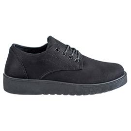 SHELOVET negro Zapatos de gamuza