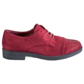 Best Shoes rojo Zapatos bajos con cristales