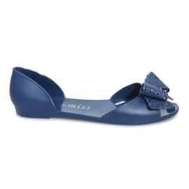 Marina Sandalias melissa azul oscuro con lazo de Delmar