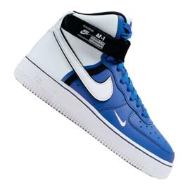 Nike Air Force 1 High LV8 2 Jr CI2164-400 Calzado blanco-azul