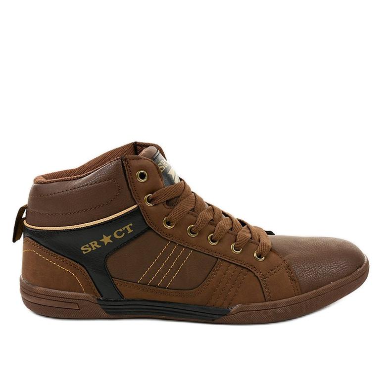 Zapatillas marrones con cordones para hombre 15M749