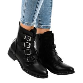 Botas negras de mujer con hebillas S120 negro