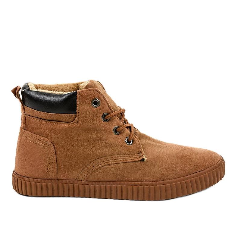 Zapatillas de hombre con aislamiento marrón AN06