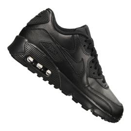 Negro Nike Air Max 90 Ltr Gs Jr 833412-001 zapatos