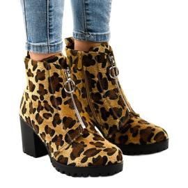 Botas de mujer leopardo con cremallera A273