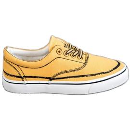 Bestelle amarillo Zapatillas de moda