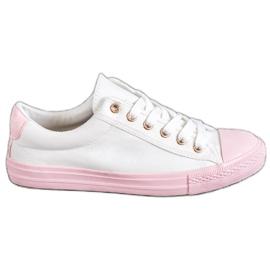 EXQUILY blanco Zapatillas coloridas