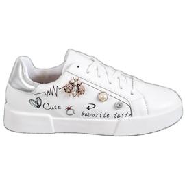 Bestelle blanco Calzado deportivo con adornos
