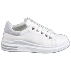 SHELOVET blanco Zapatillas Eco Leather