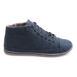 Marina Zapatillas altas de moda TL364 Azul marino