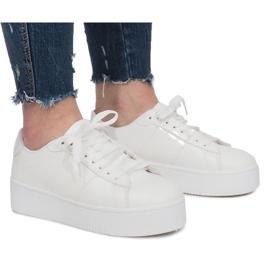 Negro Zapatillas Plataforma Blancas Livet De Lux