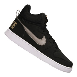 Negro Zapatillas Nike Court Borough Mid M 838938-005