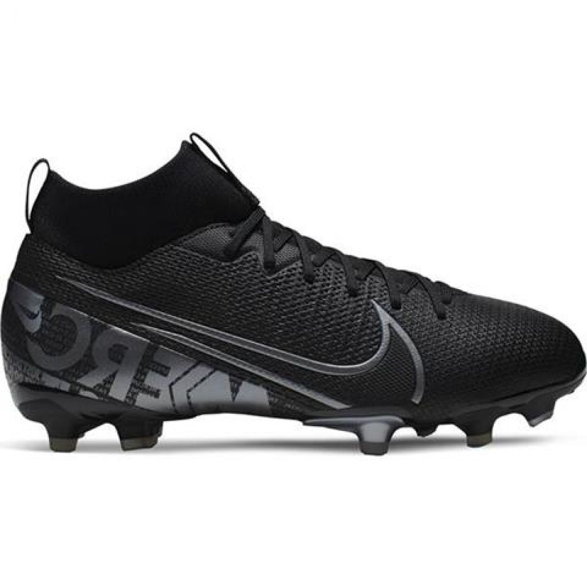 Zapatillas de fútbol Nike Mercurial Superfly 7 Academy FG MG Jr AT8120 001 negro negro